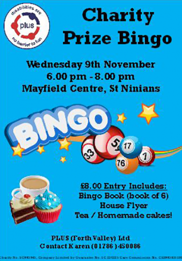 Prize Bingo – Wednesday the 9th November