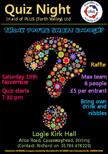 Quiz Night Saturday 19th November 2016